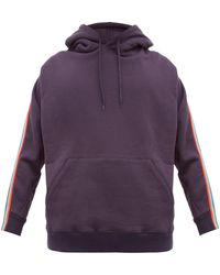 Bless Zip-webbed Cotton-jersey Hooded Sweatshirt - Blue
