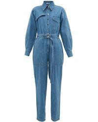 Tibi デニムジャンプスーツ - ブルー