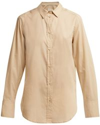 Matteau The Long Sleeve Cotton Shirt - Natural