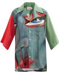 CHARLES JEFFREY LOVERBOY - Face-print Silk-blend Shirt - Lyst