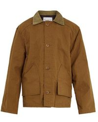 Raey - Contrast-collar Cotton Fishing Jacket - Lyst