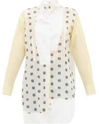 Loewe Anagram Broderie Anglaise Cotton Shirt - White