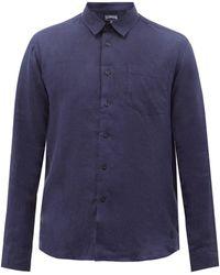 Vilebrequin スラブリネンポプリンシャツ - ブルー