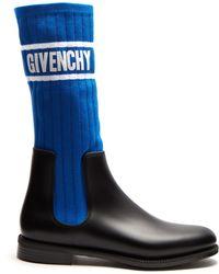 Givenchy - Bottines chelsea à maille côtelée Storm - Lyst
