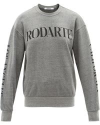 Rodarte Logo-print Jersey Sweatshirt - Grey