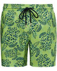 Vilebrequin Short de bain à imprimé Jungle Turtles Mahina - Vert