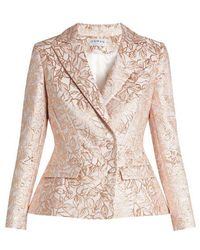 OSMAN - Mona Leaf-Vrocade Double-Breasted Jacket - Lyst