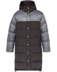 Gucci - Manteau matelassé en duvet à logo en jacquard - Lyst