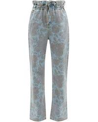 Ganni X Levi's フローラル ストレートジーンズ - ブルー