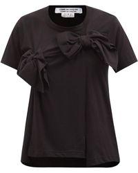 Comme des Garçons Comme Des Garçons Comme Des Garçons リボンヨーク コットンtシャツ - ブラック