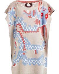 Vivienne Westwood Dragon Woven Knit Poncho - Multicolour