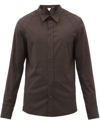 Bottega Veneta - Cotton-blend Stretch-poplin Shirt - Lyst