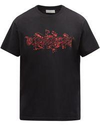 Givenchy T-shirt en coton à imprimé logo Schematics - Noir