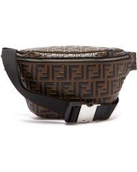 Fendi - Sac ceinture en cuir à imprimé FF - Lyst