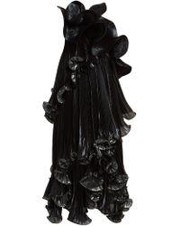 Givenchy - One Shoulder Ruffled Lurex Silk Blend Dress - Lyst