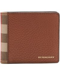Burberry - Side House-check Leather Wallet - Lyst