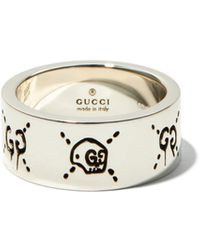 Gucci Ghost Sterling-silver Ring - Metallic