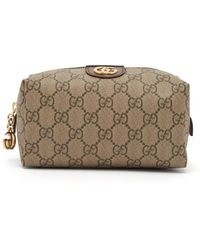 498b9c638b81 Gucci Brown Ophidia GG Supreme Small Belt Bag in Brown - Lyst