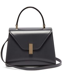 Valextra Iside Mini Leather Bag - Gray