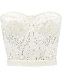Dolce & Gabbana コルドネットレース ビスチェトップ - ホワイト