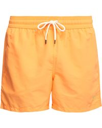 Polo Ralph Lauren - Embroidered Logo Swim Shorts - Lyst