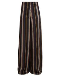ROKSANDA - Arneau Striped Satin Trousers - Lyst