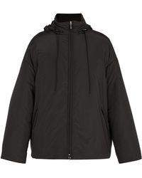 Balenciaga Logo Windbreaker Jacket - Black