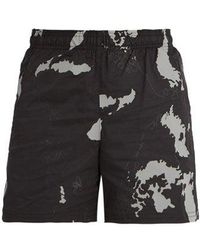 Neil Barrett - Globe-print Shell Shorts - Lyst