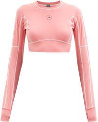 adidas By Stella McCartney トゥルーストレングス ロングスリーブ クロップドトップ - ピンク
