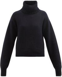 Extreme Cashmere No.188 ハッピー カシミアタートルネックセーター - ブラック