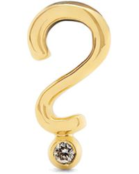 Alison Lou | Diamond & Yellow-gold Question Mark Earring | Lyst