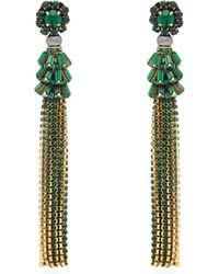 Etro - Crystal-embellished Tassel Earrings - Lyst