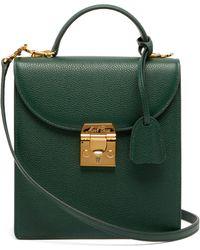 Mark Cross Uptown Leather Box Bag - Green