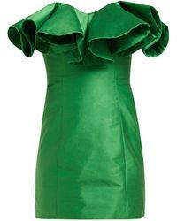 The Attico Bustier Structure Mini Dress - Green