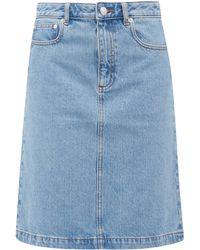 A.P.C. Rosalie A-line Denim Skirt - Blue