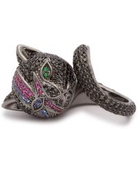 Lynn Ban - Bowie Cat Rhodium-plated Silver Ring - Lyst