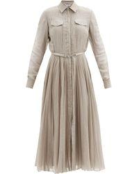 Gabriela Hearst エレラ ウールブレンドボイルシャツドレス - マルチカラー