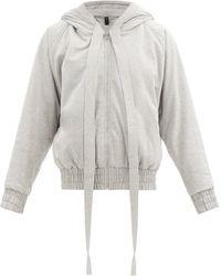 Norma Kamali Hooded Cotton-blend Jersey Bomber Jacket - Grey