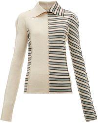 Jil Sander Patchwork Stripes Virgin Wool Sweater - Multicolour