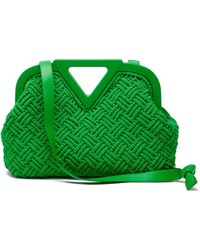 Bottega Veneta Point Cotton-macramé Clutch Bag - Green
