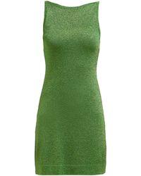 Missoni Sleeveless Lamé Mini Dress - Green