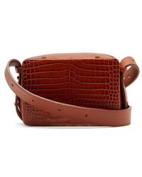 Lutz Morris - Maya Crocodile-effect Leather Cross-body Bag - Lyst