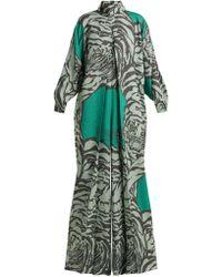 Valentino - Tiger Print Wide Leg Jumpsuit - Lyst
