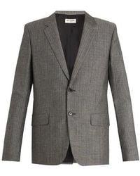 Saint Laurent - Single-breasted Wool Blazer - Lyst