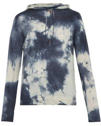 President's - Tie Dyed Hooded Wool Blend Jersey Top - Lyst