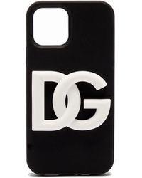 Dolce & Gabbana Dgロゴ Iphone 12 ラバーケース - ブラック