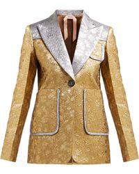 N°21 Single-breasted Floral Brocade Jacket - Metallic