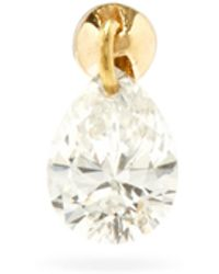 Maria Tash - Small Floating Diamond & 18kt Gold Single Earring - Lyst