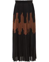 Jil Sander Paneled Pleated Cotton-blend Skirt - Multicolor