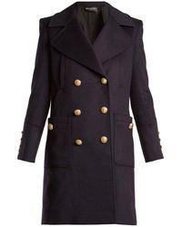 Balmain - Double-breasted Wool Coat - Lyst
